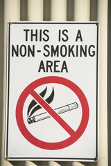 No smoking sign indicating danger
