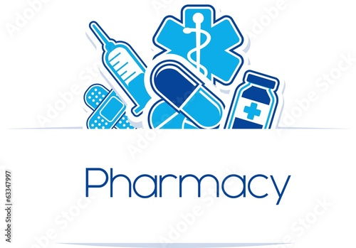 pharmacy sign vector