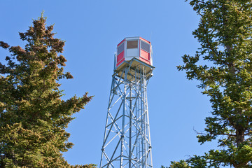 Forest fire watch tower steel lookout structure