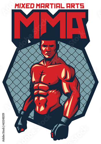MMA fighter stand