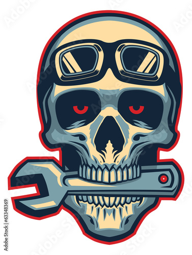 Skull rider bite a wrench