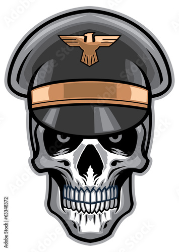 skull soldier wearing hat