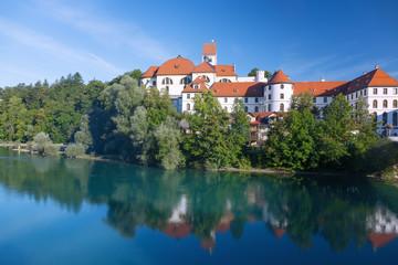 Allgäu, Füssen, Hohes Schloss, Kloster St. Mang, Lech, Blick v