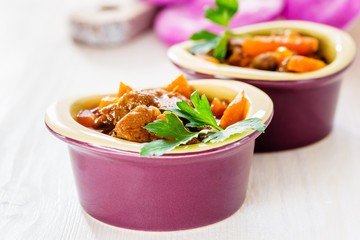 Beef stew with carrot