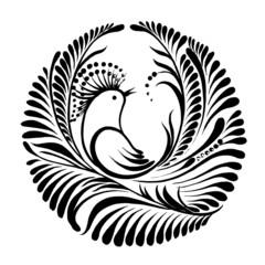 decorative silhouette bird of paradise