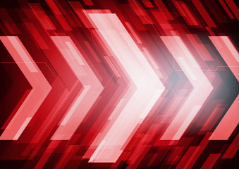 Red abstract technology arrows