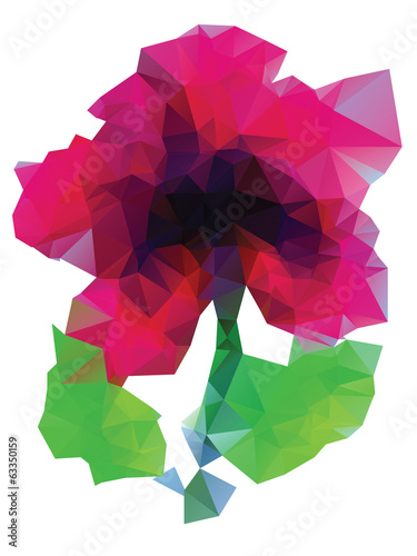 Polygonal Purple Flower