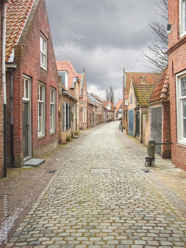 Street in the Dutch town of Heusden. Netherlands