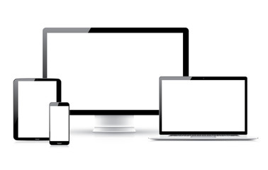 High quality electronic devices vector collection