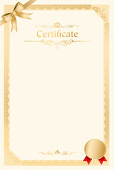 retro frame certificate template Vector