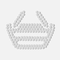 pills concept: shopping, basket