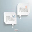 2 Round Rectangles Speech Bubbles
