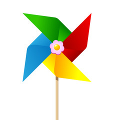 Colorful paper pinwheel