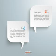 2 Round Rectangles Speech Bubbles