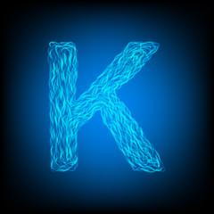 Water letter K