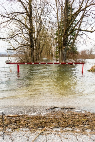 Flooded barrier - 63351769