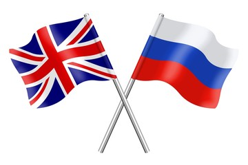 Flags: United Kingdom and Russia