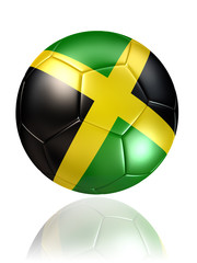 jamaica soccer ball on white background