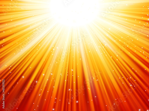 Sunburst rays of sunlight tenplate. EPS 10