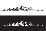Illustration of a mountain range