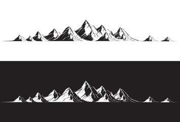 Illustration of a mountain range