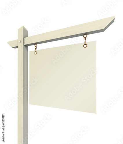 empty real estate sign isolated