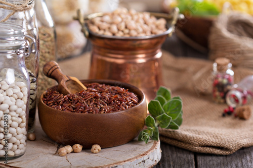 Variety of grains and beans