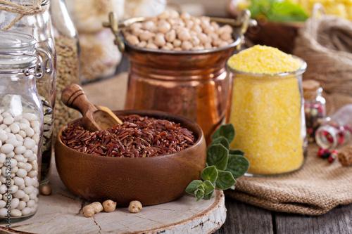 Aluminium Granen Variety of grains and beans