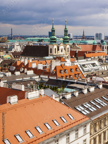 Vienna, Austria. View of the city from the Cathedral of St Stefa