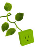 canvas print picture - Power Outlet with Green Stem II