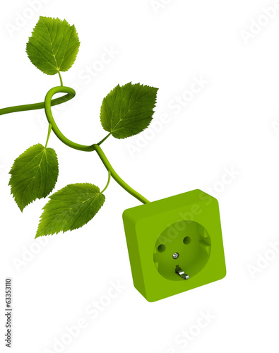 Power Outlet with Green Stem