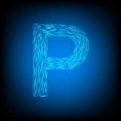 Water letter P