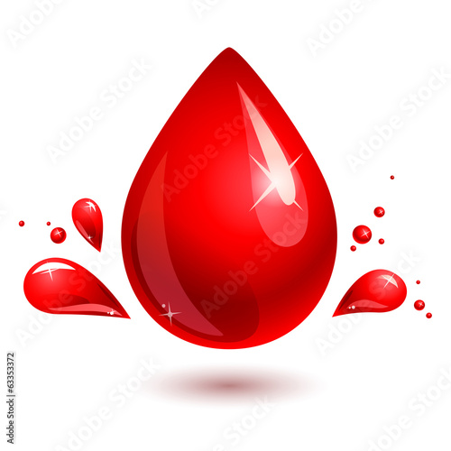 blood drop. red drop