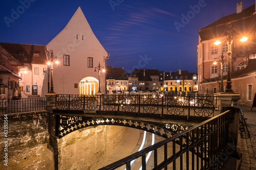 Small square and Liars' Bridge in Sibiu