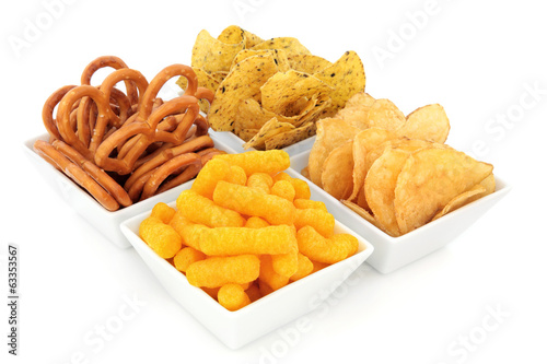 Deurstickers Assortiment Party Snacks