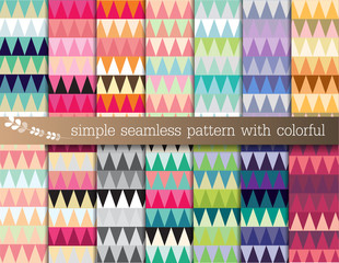 simple seamless pattern with colorful