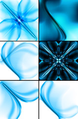 Abstract technology collection business wave background illustra