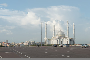 osque in Astana on summer day. Kazakhstan. Central Asia.