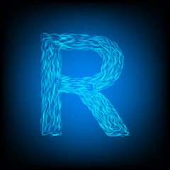 Water letter R