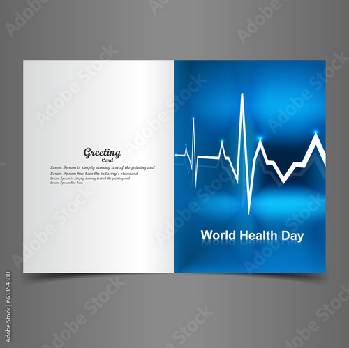 Beautiful vector greeting card World health day background illus