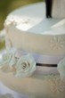 Detail shot of a wedding cake