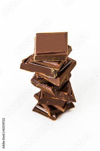 dark chocolate isolated