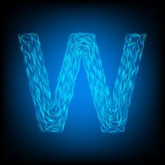 Water letter W