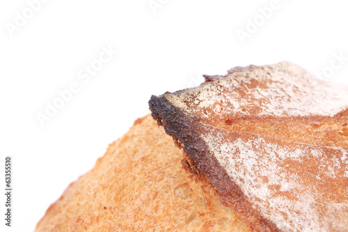 Burnt crust of bread.
