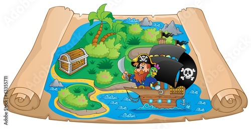 Pirate map theme image 2