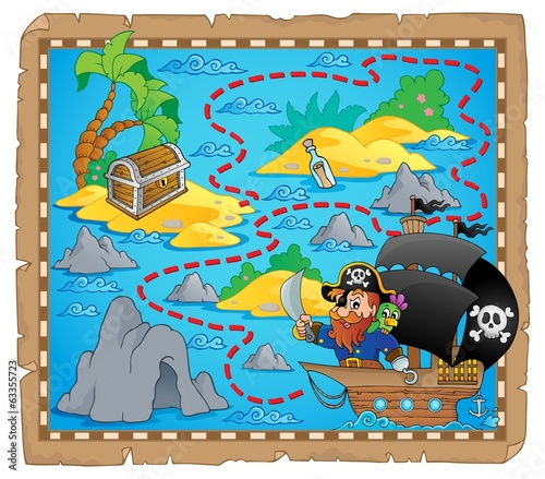 Pirate map theme image 3