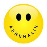 Smiley mit Schriftzug ADRENALIN als Mund – Vektor/freigestellt poster