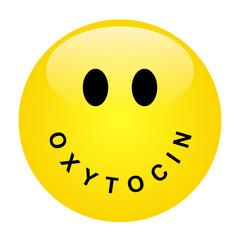 Smiley mit Schriftzug OCYTOCIN als Mund – Vektor/freigestellt