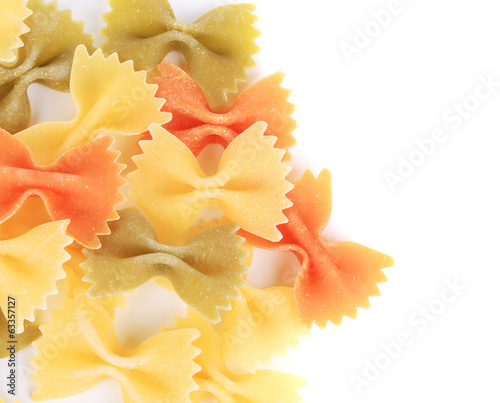 background of the farfalle three colors.