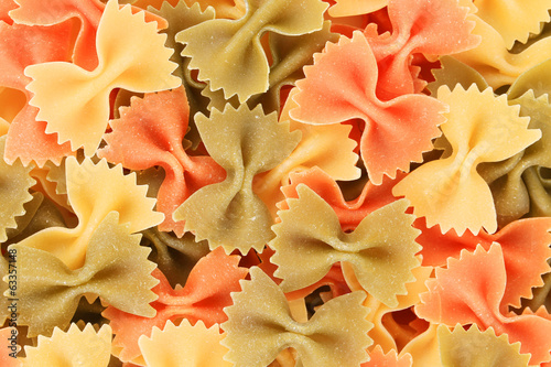background of the farfalle three colors